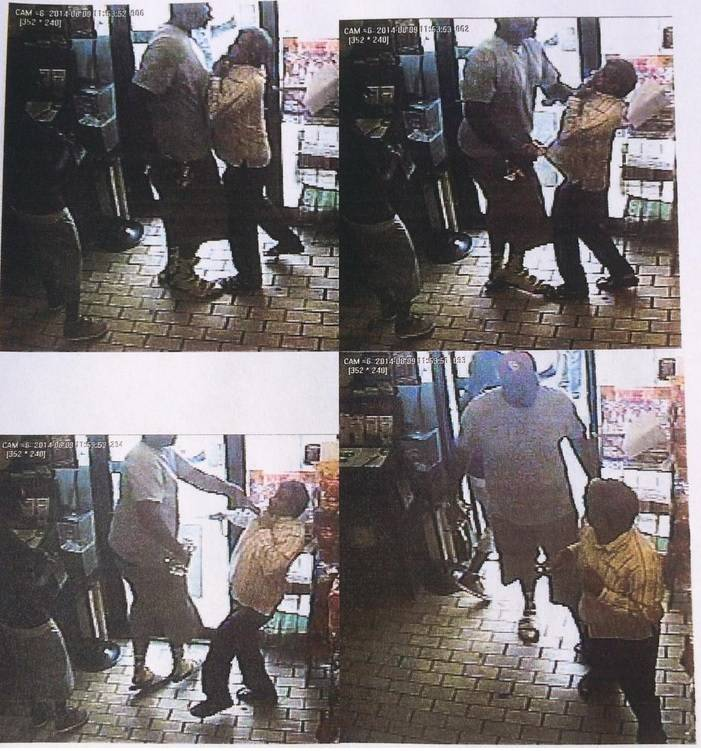 Convenience store camera video of Michael Brown the morning of the day when he was shot and killed.