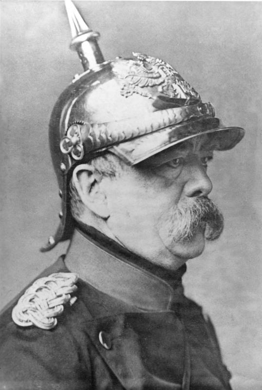 "Although Bismarck as a young man had postponed his obligatory 12 months of military service as long as he could, and then attempted to evade it further, pleading physical unfitness, he nevertheless when chancellor dressed himself as a soldier on every possible occasion — triggering resentment in officers of the Prussian high command who frequently referred to him as ""that civilian in a cuirassier's jacket."""
