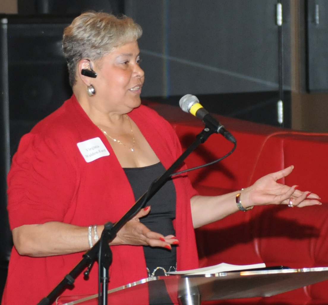 Virginia Walden-Ford, civil rights pioneer and major activist for parental school choice, speaks to a Las Vegas audience Wednesday, July 30. (Photo by Tyler Walton, NPRI)